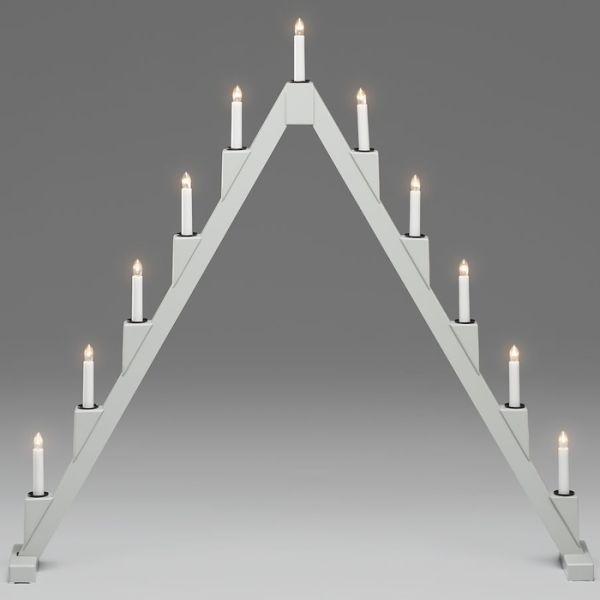 Konstsmide 3592-370 Sähkökynttelikkö harmaa, 11 kynttilää