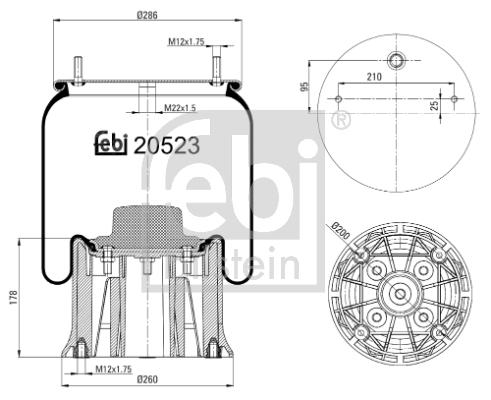 Metallipalje, ilmajousitus FEBI BILSTEIN 20523