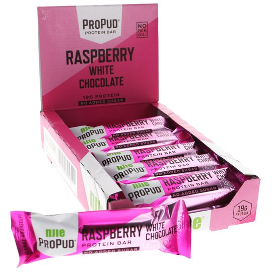 Proteiinipatukat Raspberry White Chocolate - 44% alennus
