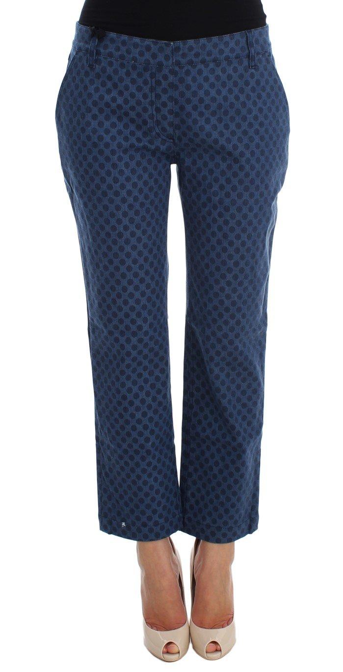 Dolce & Gabbana Women's Polka Dotted Stretch Capri Jeans Blue SIG20010 - IT44|L