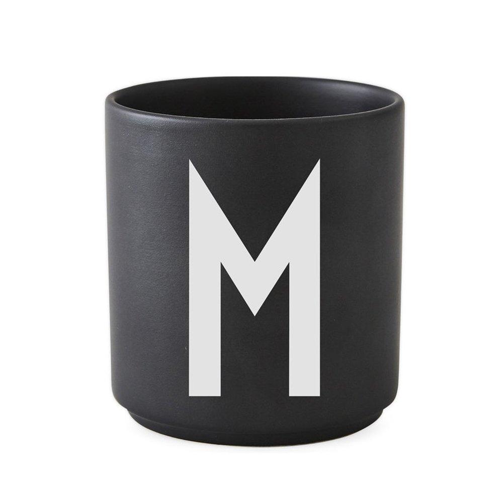 Design Letters - Personal Porcelain Cup M - Black (10204000M)