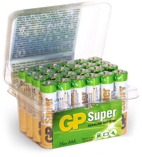 GP Batterier Super Alkaline AAA 24A LR03 24-pack