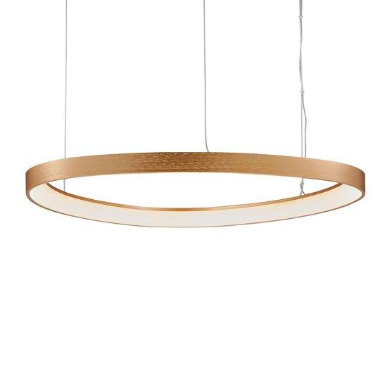 LED-hengelampe Loop, gull, Ø 60 cm