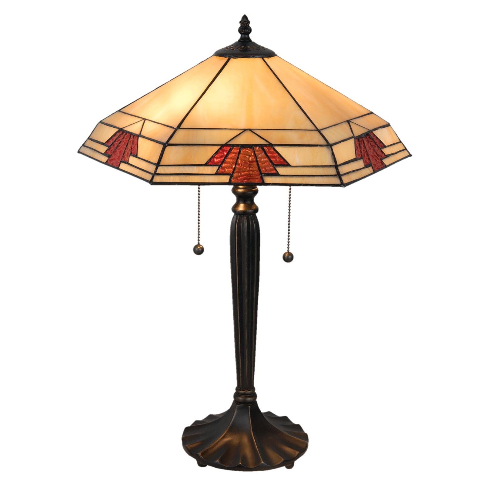 5202 bordlampe i Tiffany-stil, 44x38 cm