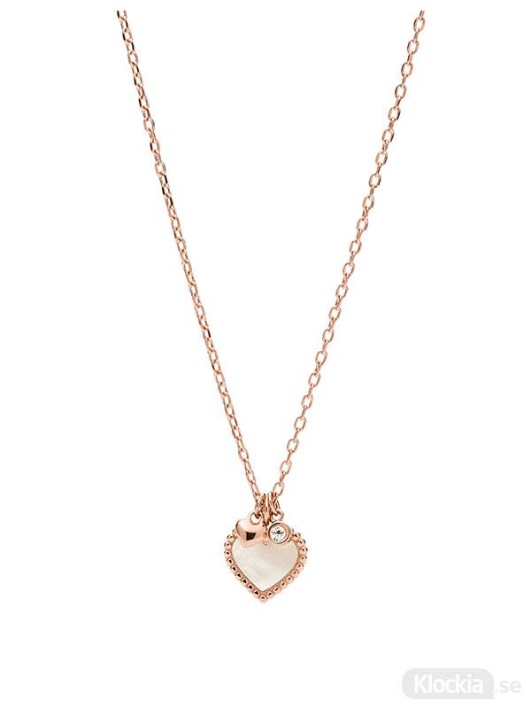 FOSSIL Halsband Vintage Motifs - Rosé JF03694791 - Damsmycke
