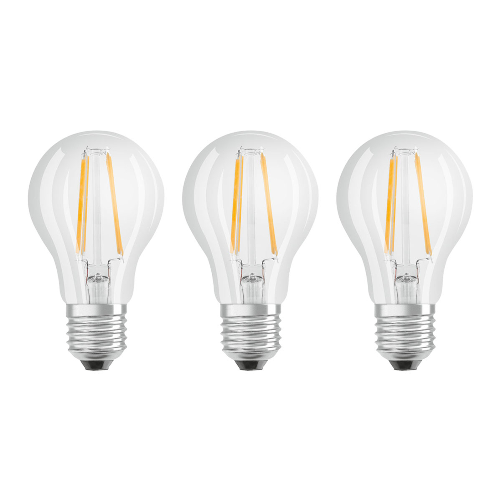 OSRAM-LED-lamppu E27 Classic Fil. 840 6,5W 3 kpl