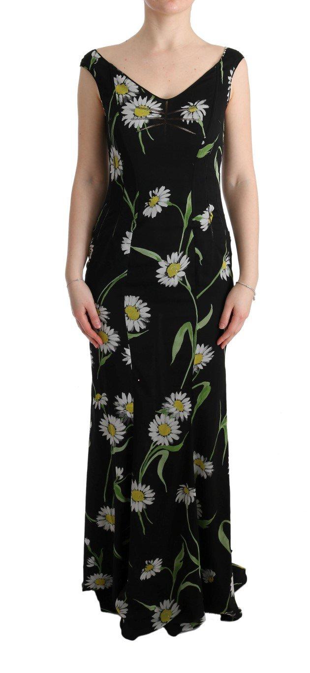 Dolce & Gabbana Women's Silk Stretch Sheath Dress Black SIG60635 - IT36 | XS
