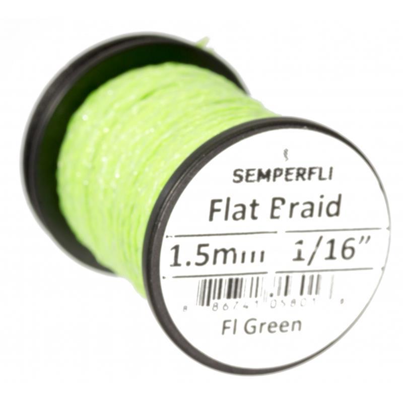 Semperfli Flat Braid 1,5mm Fl. Green