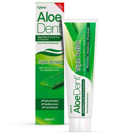 AloeDent Aloe Vera Triple Action Fluoride Free Toothpaste, 100 ml