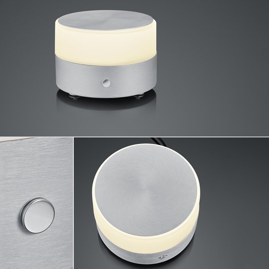 BANKAMP Button LED-bordlampe høyde 11cm alu