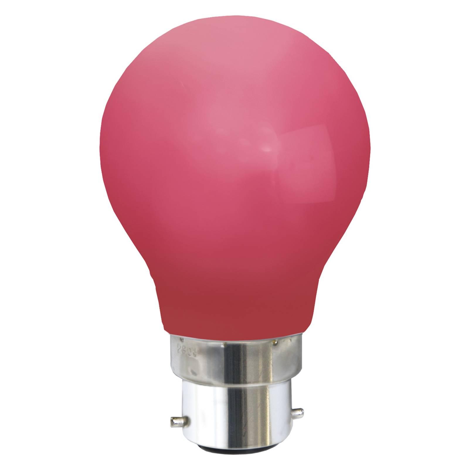 B22 0,8W -LED-lamppu, punainen