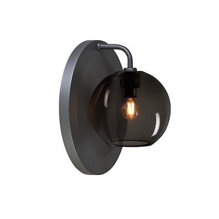Gloria Vegglampe Grafitt/Røykfarget E14