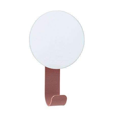 Speil med krok 12x7 cm - Rød