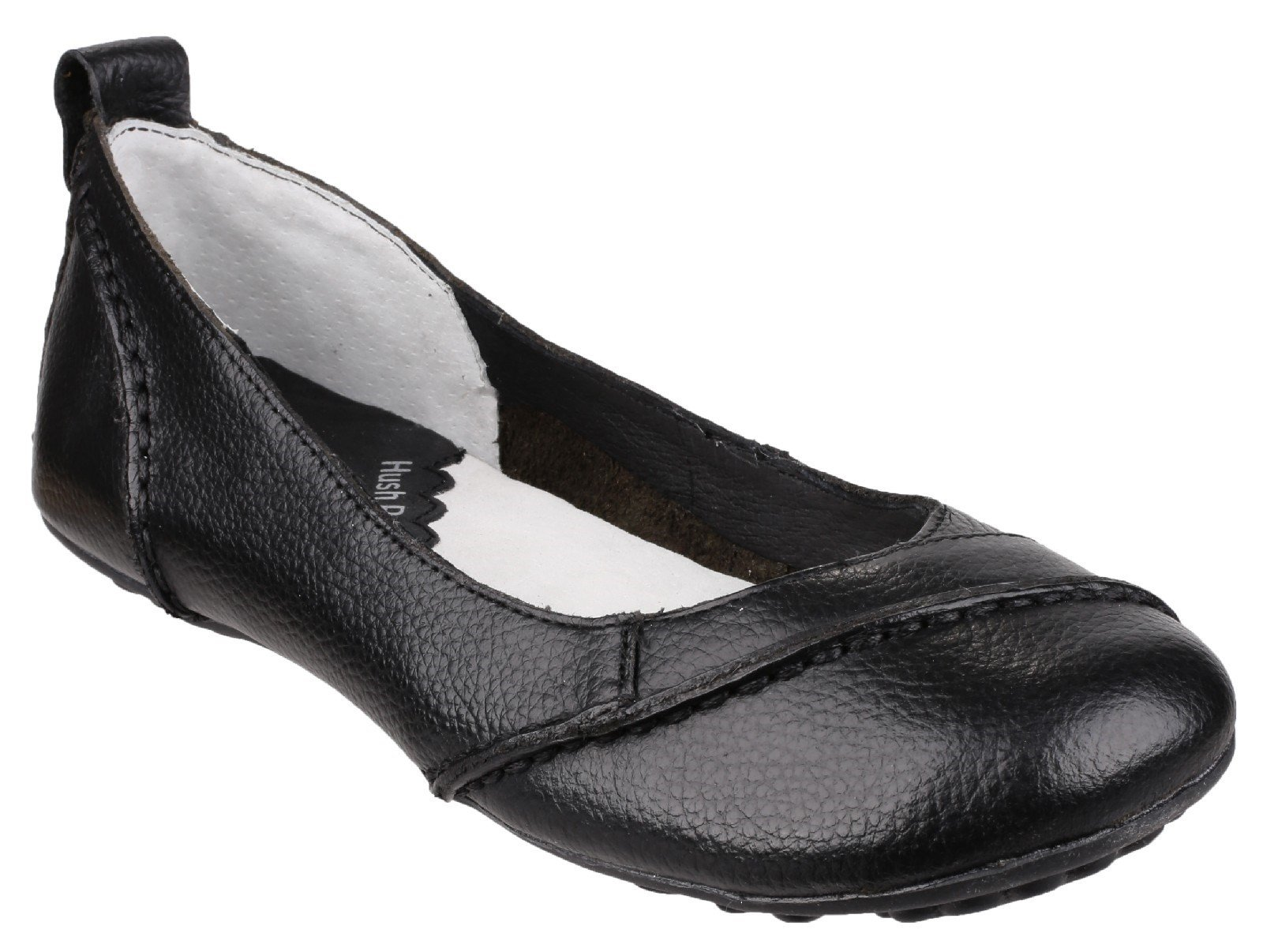 Hush Puppies Women's Janessa Slip On Flat Shoe Black 23258 - Black 3