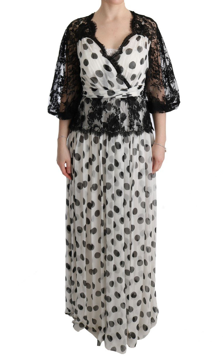 Dolce & Gabbana Women's Polka Dotted Floral Dress Multicolor SIG60596 - IT40 S