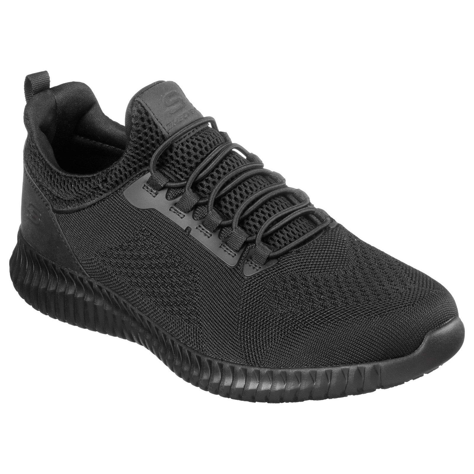 Skechers Unisex Cessnock Trainer Black 32620 - Black 7