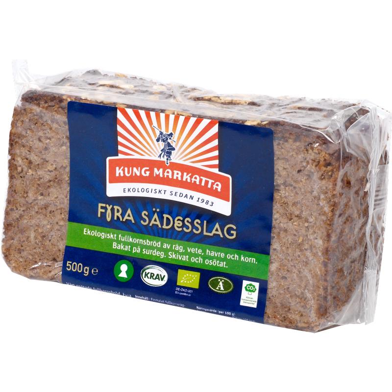 """Eko Bröd """"Fyra Sädesslag"""" 500g - 54% rabatt"""