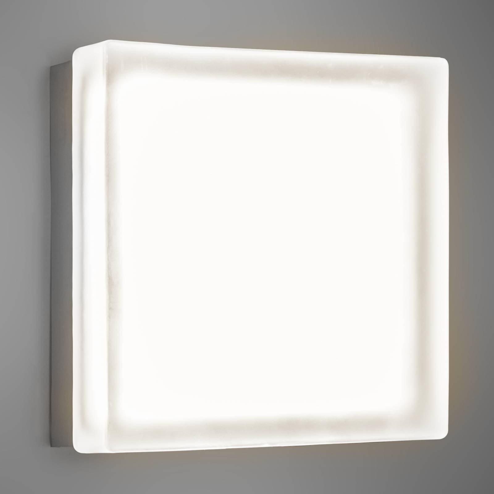 Kvadratisk LED-vegglampe Briq 02 varmhvit