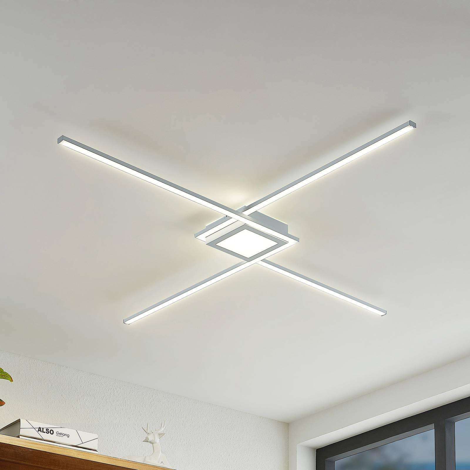 Lindby Ridia -LED-kattovalaisin, valkoinen