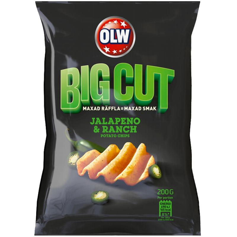 "Chips ""Big Cut Jalapeno Ranch"" 200g - 77% rabatt"
