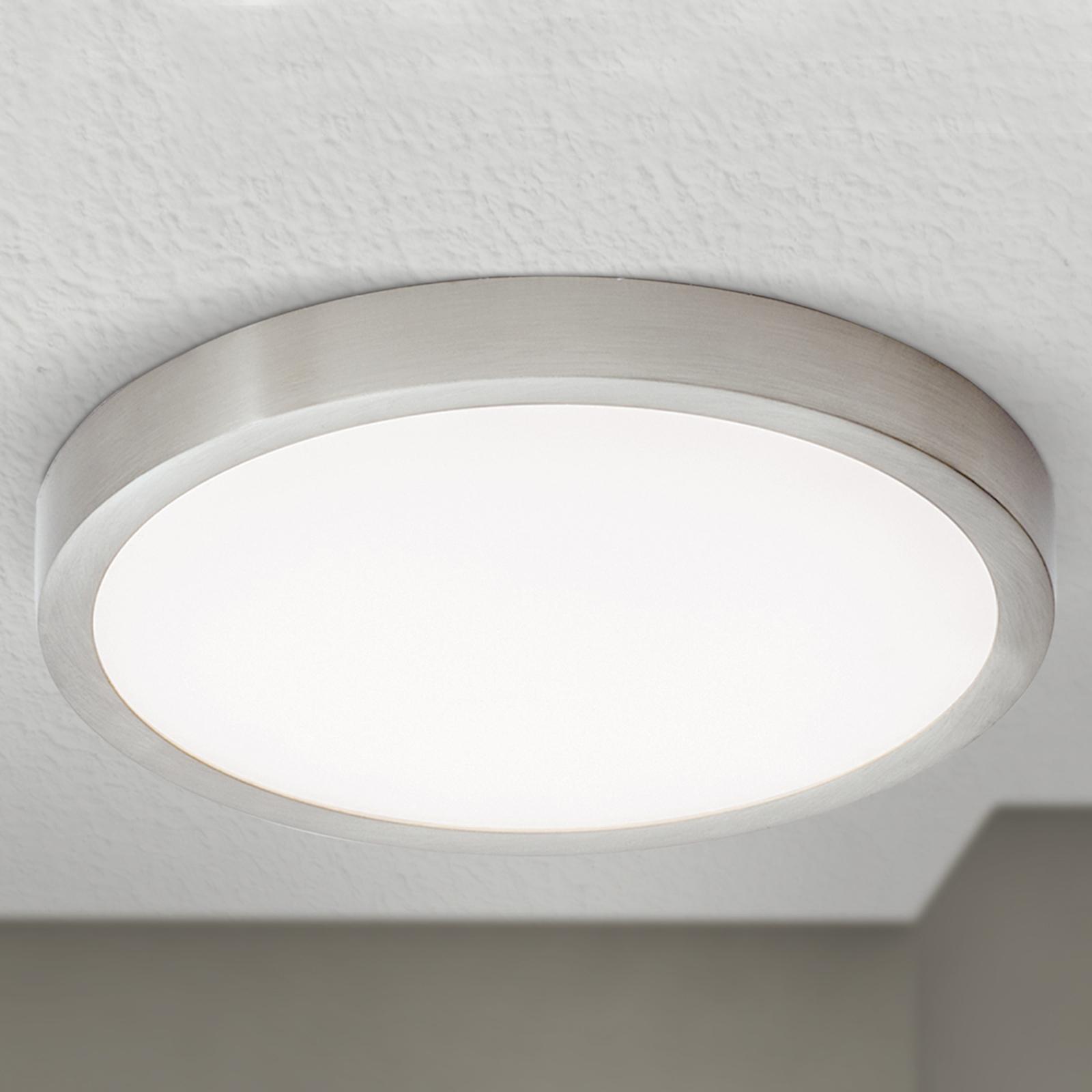 LED-kattovalaisin Vika, pyöreä, mattatitaani Ø23cm