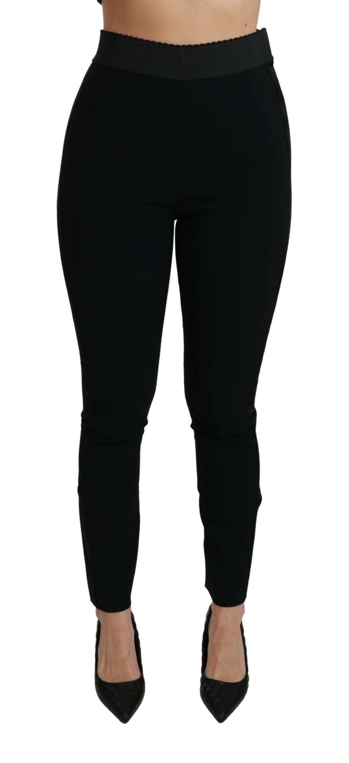 Dolce & Gabbana Women's Skinny High Waist Stretch Trouser Black PAN70894 - IT38 XS