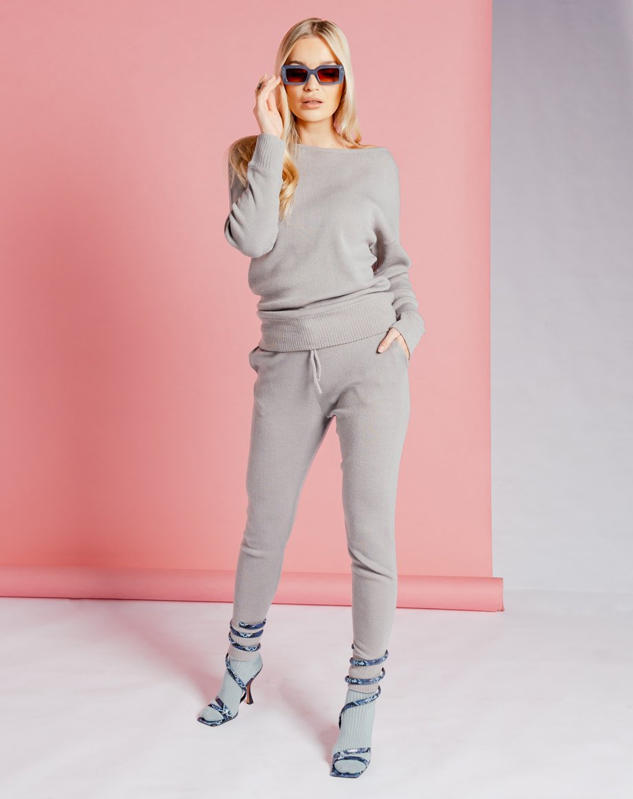 Auriel Knitted Lounge Set - Grey / 8
