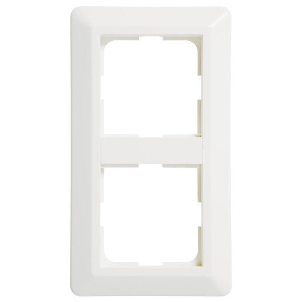 Elko EKO07245 Kombinasjonsramme hvit, termoplast 155 mm, 2 lomme
