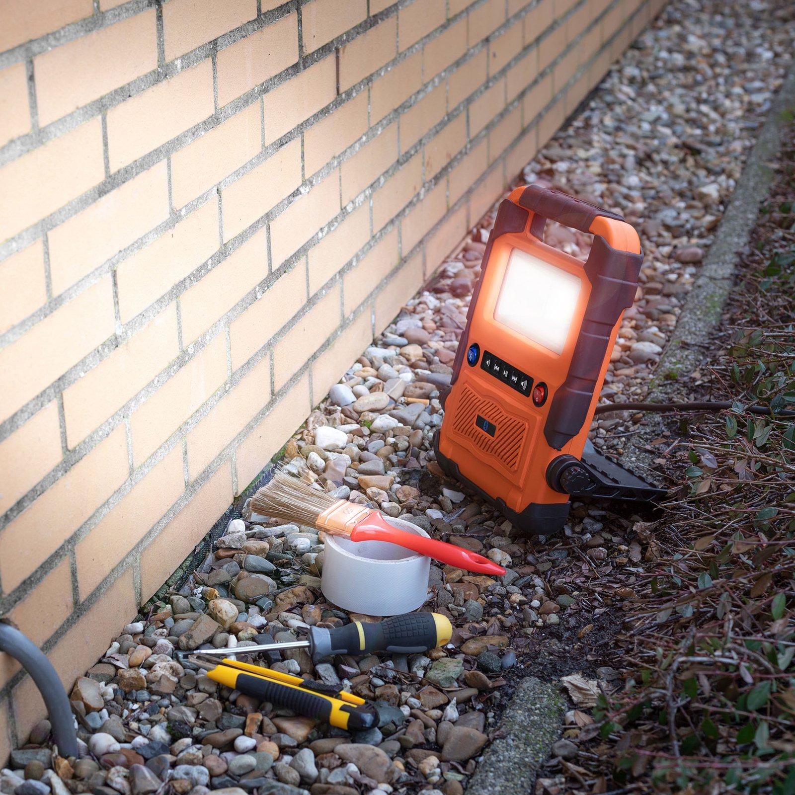 LED-arbeidslampe FCL-76011 med høyttaler