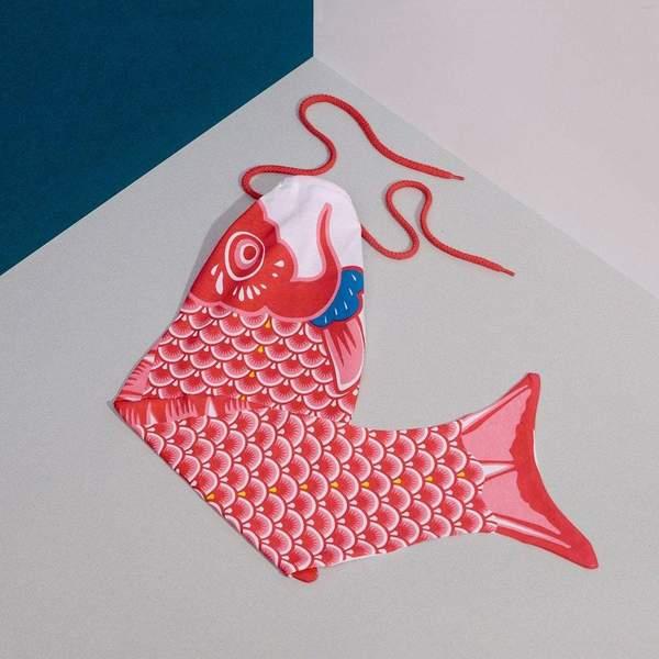 Koinobori Laundry Bag Red