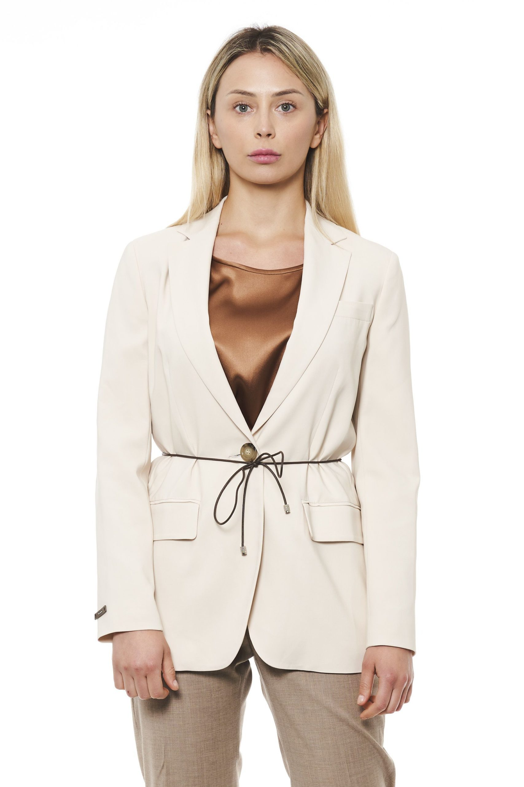 Peserico Women's Jacket Beige PE1426877 - IT42 | S