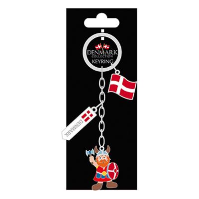 Souvenir Denmark Nyckelring Viking/Flagga