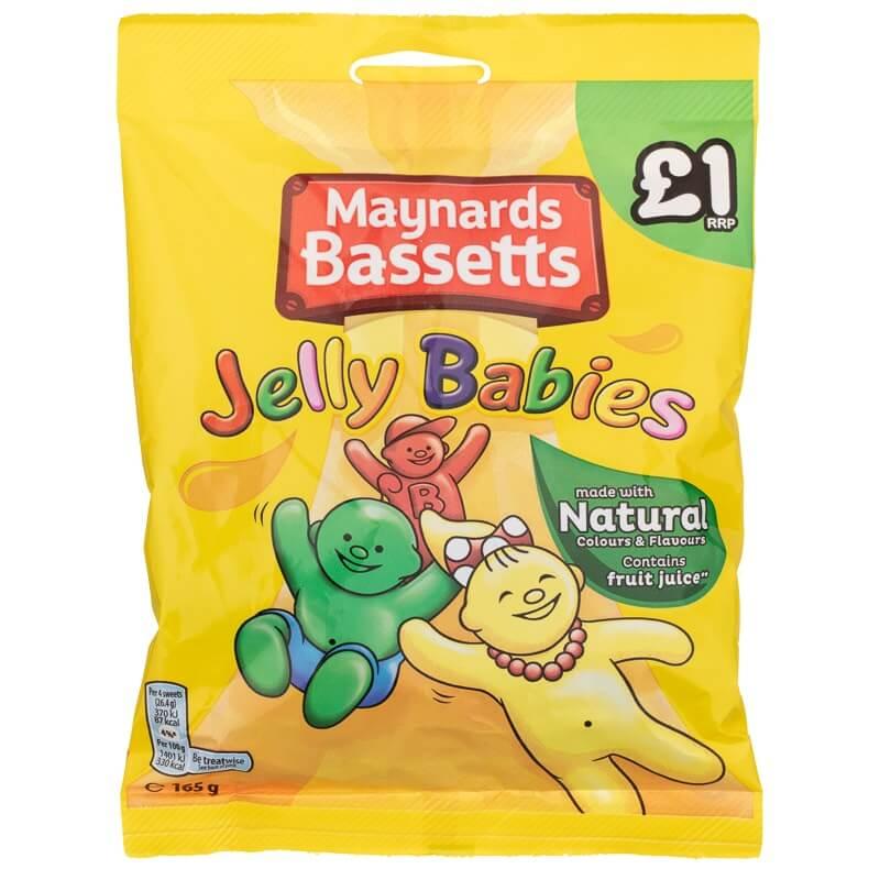 Maynards Bassetts Jelly Babies 165g