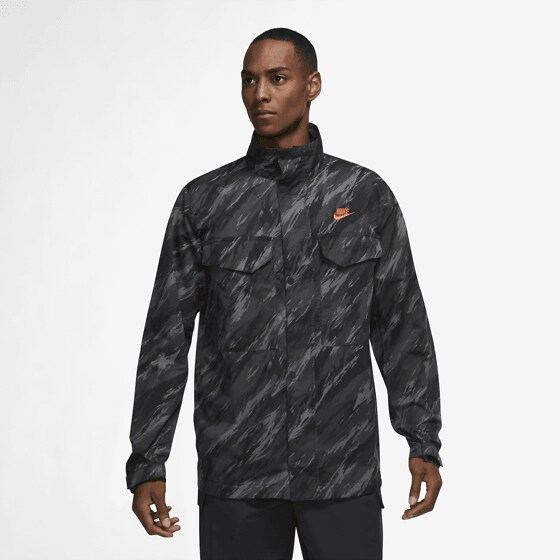 Nike M Nsw Spe+ Wvn Ul M65 Jkt Aop1 Jackor BLACK/ORANGE
