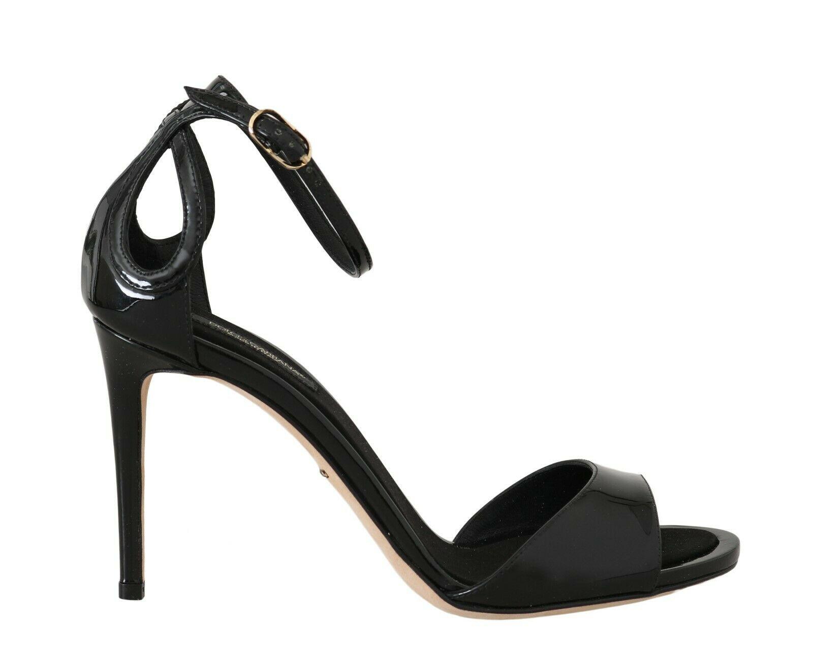 Dolce & Gabbana Women's Leather Stiletto Sandals Black LA5615 - EU40/US9.5