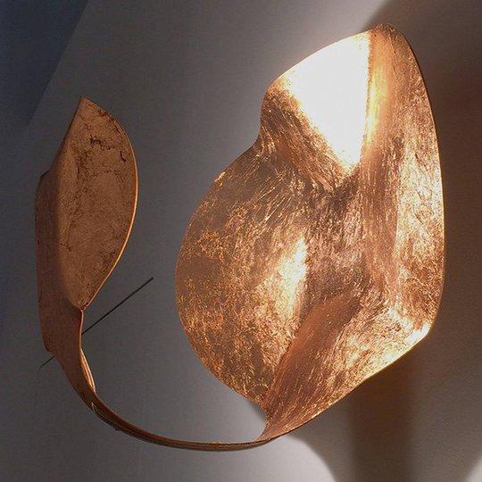 Gi.Gi-LED-design-seinävalaisin, 40 cm, pronssi