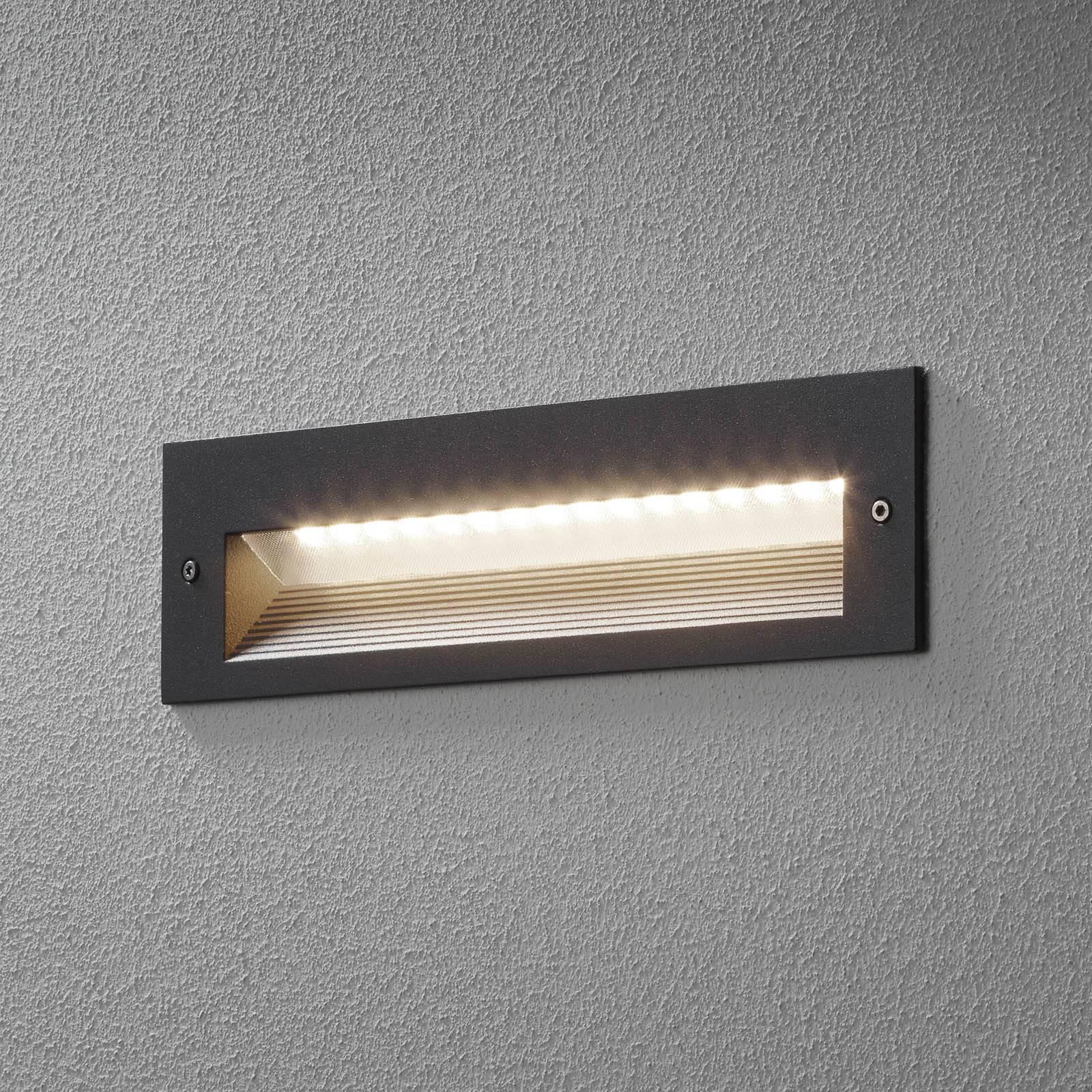 BEGA 33054 LED-seinäuppovalo 3000K grafiitti 26 cm