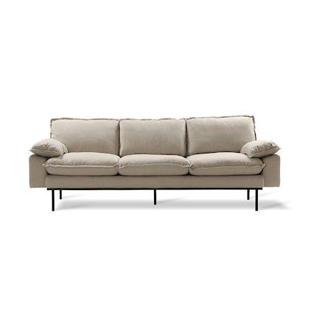 Retro Sofa 3-seter cosy Beige