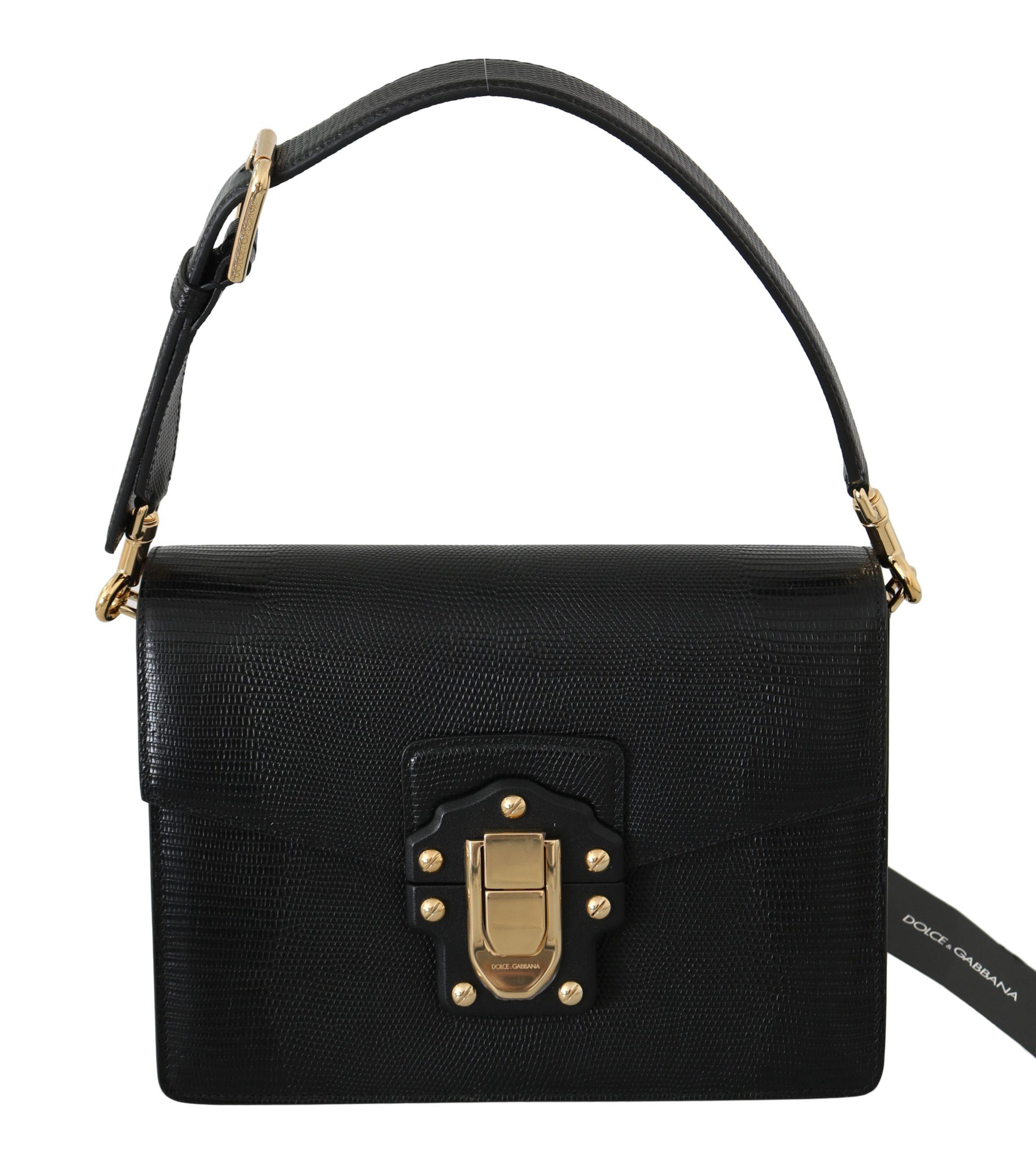 Black Leather LUCIA Hand Shoulder Messenger Purse