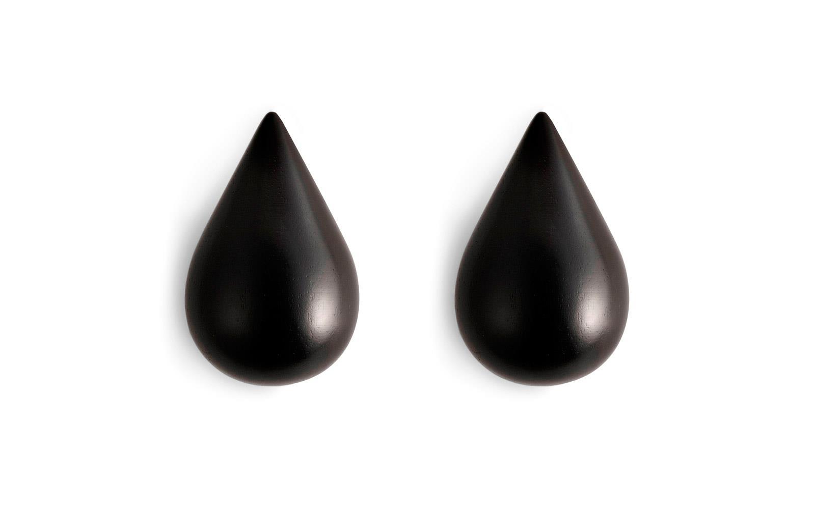 Normann Copenhagen - Dropit Hooks Set of 2 Large - Black (331505)
