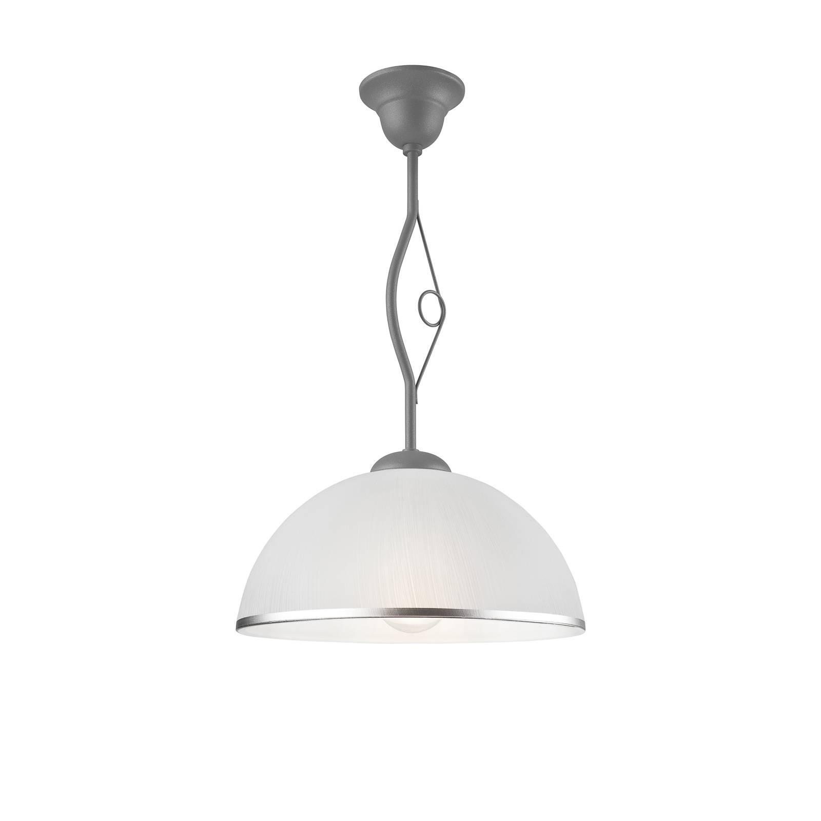 Riippuvalo Roma, valkoinen ja hopea, 1-lamppuinen