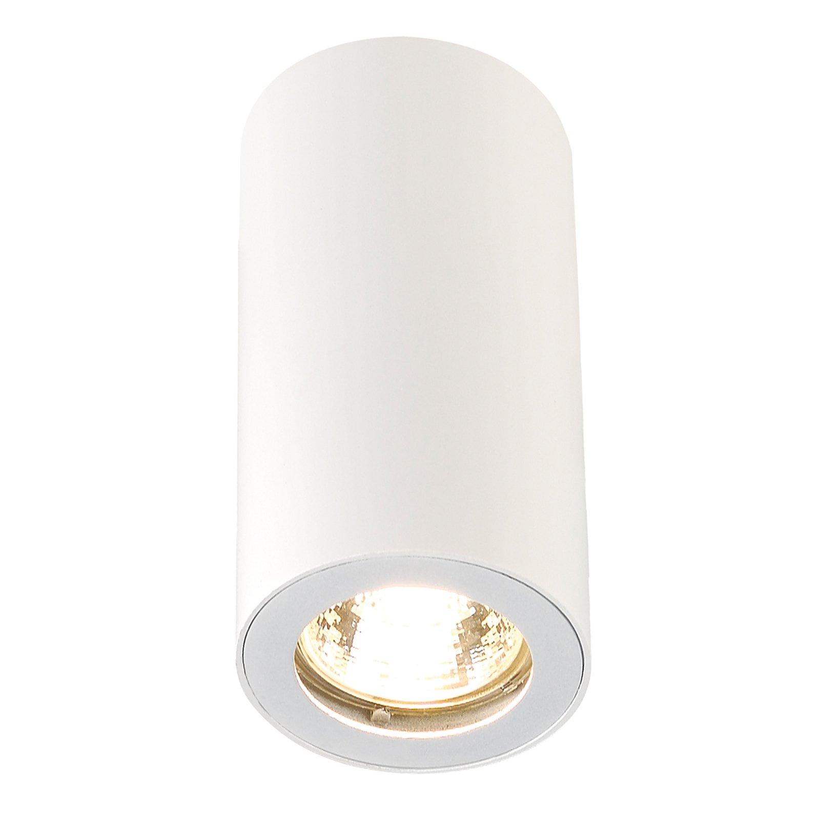 Hvit ENOLA_B CL-1 taklampe med ett lys