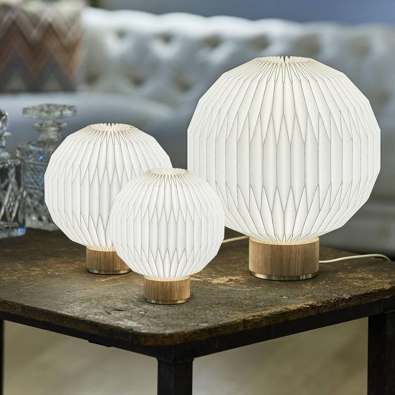 LE KLINT 375 bordlampe Ø 18 cm papirskjerm