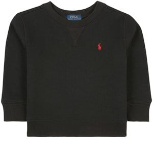 Ralph Lauren Black And Red Logo Tröja Svart 2 år