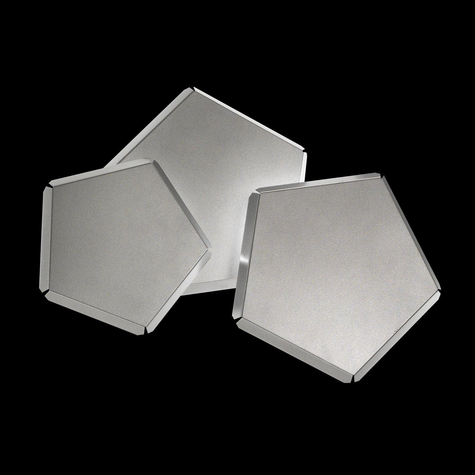 LED-vegglampe Pleiadi i sølv, 3 lyskilder