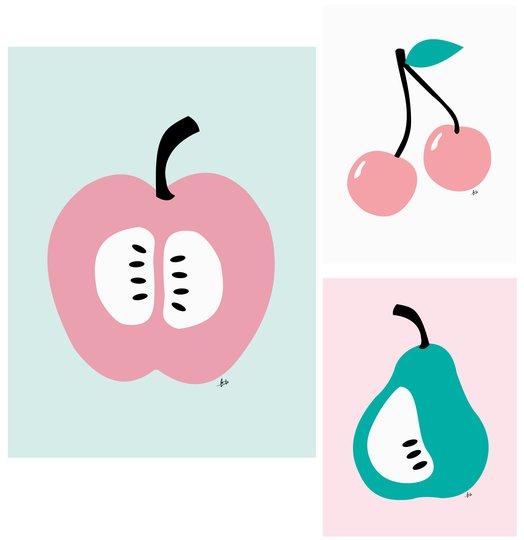 POPP Plakat 3-pack Frukt