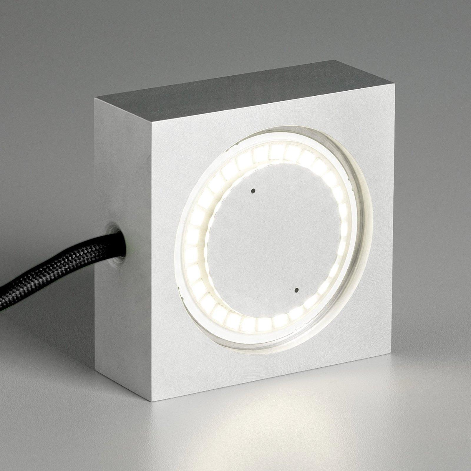 LED-flerbrukslampe Square,svart tilkoblingsledning
