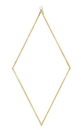 Speil diamant 41 x 20 cm - Messing