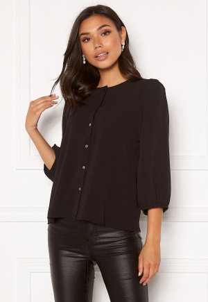 ONLY Nova Lux Puff Sleeve Top Black 34