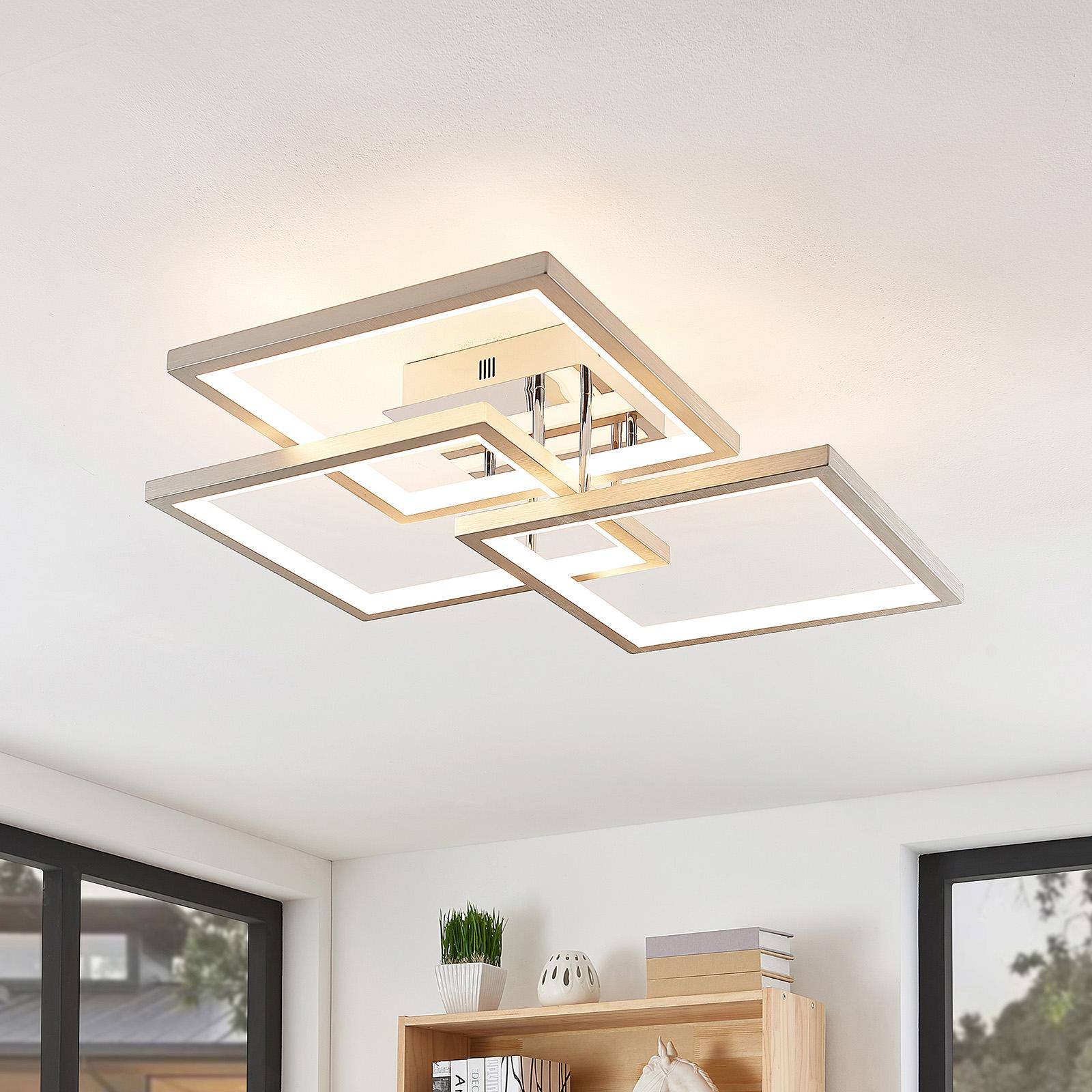 Lucande Avilara -LED-kattovalo, 70 cm x 70 cm